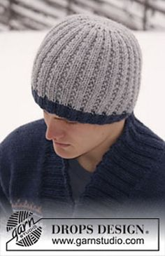 "Men's hat in ""Alaska"" pattern by DROPS design"