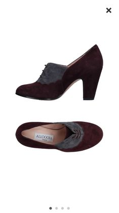 Aubergine and grey suede 1930's-style shoes found on YOOX.com