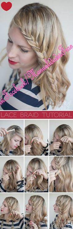 Uñas y peinados: Trenza en el flequillo!