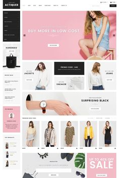 809d7779cd Actiquer - WooCommerce WordPress Theme. An elegant and responsive theme  perfect for stores selling clothing