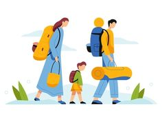 Family traveling designed by Berin Holy. Connect with them on Dribbble; Family Vector, Travel Illustration, Travel Design, Saint Charles, Show And Tell, Family Travel, Holi, City, Traveling