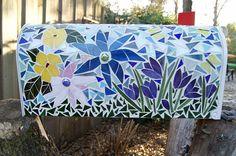 Spring Garden Mosaic Mailbox FREE SHIPPING
