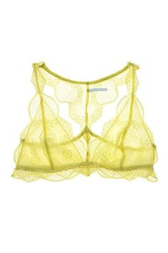 """As you grow older, lingerie shopping becomes all about that lace ('bout that lace). """"We've noticed that, when they get older, [customers] want more lace bras,"""" Meija explains. """"In terms of color, I like to keep it neutral — black, nude, and a little bit of white — but I love to throw in a pop of color,"""" she says. Eberjey's Estelle style — a racerback bralette that's available in small, medium, and large."""