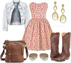 """""""Floral Spring Country Outfit"""" by natihasi on Polyvore"""