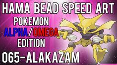 Hama Bead Speed Art   Pokemon   Alpha/Omega   Timelapse   065 - Alakazam