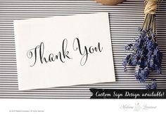 Printable Thank you sign wedding sign DIY by MadameLevasseur