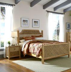 Mandalay-BR-2-pc Wicker Bedroom Furniture, Beach Furniture, Custom Furniture, Furniture Making, King Beds, Queen Beds, Tropical Bedrooms, Queen Headboard, Mandalay