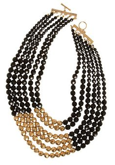 Black and gold bead necklace -- possible xmas gift for someone