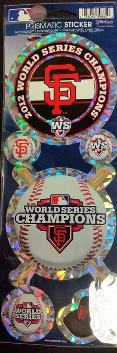 San Francisco Giants Stickers Prismatic 2012 World Series Champs