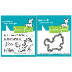 Lawn Fawn SET SULF16SETWU WINTER UNICORN Clear Stamps and Dies