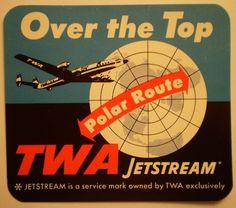 TWA luggage tag