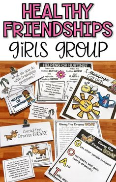 Want to help your girls develop healthy friendship skills and stop their relational aggression? This girls group counseling curriculum is fun and effective to help them be better friends to others! Counseling Activities, Group Counseling, School Counseling, Respect Activities, Group Activities, Physical Activities, Elementary School Counselor, Elementary Schools, Friendship Problems