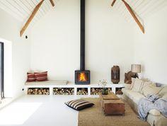 Pour remplacer une cheminée manquante. Pour le design plus moderne.