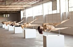 """Jennifer Rubell's Nutcracker: """"These interactive sculptures embody the two polar stereotypes of female power: the idealized, sexualized nude female form; and the too-powerful, nut-busting uberwoman."""""""
