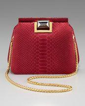 V103B Kara Ross Sidra Python Shoulder Bag .....If only......