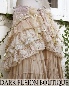 Wrap Larger Size Couture Cream Sepia Gold by darkfusionboutique, $85.00