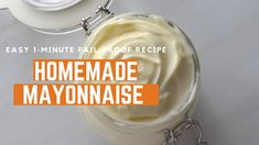 Fail-proof and super easy homemade Mayonnaise Recipe Quick Recipes, Egg Recipes, Delicious Recipes, Yummy Food, Healthy Recipes, Mayonnaise Recipe, Homemade Mayonnaise, Group Meals, Us Foods