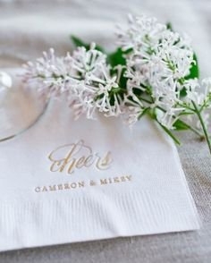 "See the ""Festive Napkins"" in our Cocktail Hour Ideas from Real Weddings gallery"