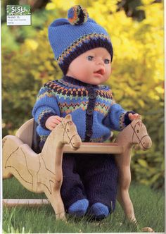Album Archive - Dukketøj til Baby Born 2 - Ingelise Baby Born Clothes, Preemie Clothes, Knitting Dolls Clothes, Knitted Dolls, Doll Clothes Patterns, Doll Patterns, Baby Boy Hairstyles, Baby Boy Room Decor, Baby Girl Bedding