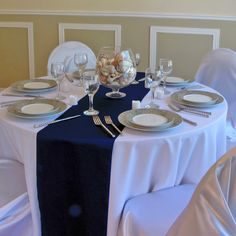 blue table runners wedding - Google Search