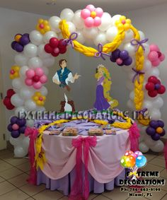 Rapunzel Birthday Party Ideas | of rapunzel tangled cake table decoration for kids birthday party ...