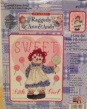 "Janlynn Counted Cross Stitch Kit #77-105 ""Raggedy Ann & Andy Sweet Little Girl"""
