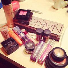 brushes, black, mac, make up