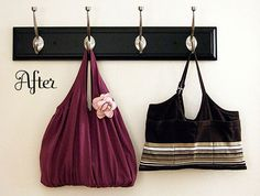DIY super frikin easy to make purses/totes. Also great gifts! diy-crafts