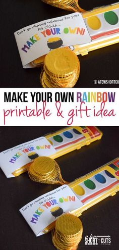 Having a St Patrick's Day or Rainbow Party? You have to check out this Make Your Own Rainbow Printable St Patricks Day Party Favors! patricks day food for work Make Your Own Rainbow Printable - Rainbow Party Favors - A Few Shortcuts Rainbow Party Favors, Rainbow Parties, Rainbow Birthday Party, First Birthday Parties, First Birthdays, Kids Rainbow, Rainbow Art, Sant Patrick, St Patricks Day Crafts For Kids