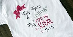 First Day of School Shirt with {FREE CUT FILE}