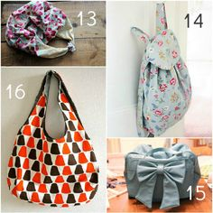 20 Free Beautiful Bag Tutorials and Patterns. Mi likes 3 and 13 :)