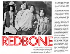 Redbone Featuring Pat Vegas Lolly Vegas Cycles