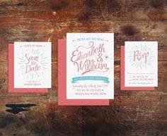 Lovely Letterpress Wedding Invitation Suite by SimplyPressedPS, $100.00