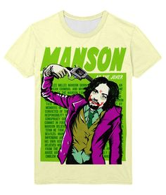 cool T-shirt Marilyn Manson Joker Heath Ledger Style DC Music  -  T-shirt Merch Manson Apparels Buy You can get longsleeve or t-shirt, even tanks for boys and girls. Just picks the size of your favourite apparel and put the item to a basket.