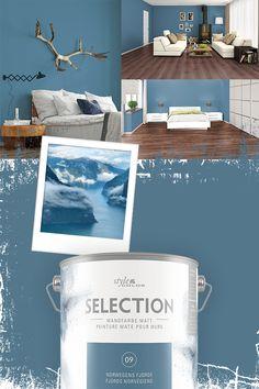 Bekenne Farbe und zeig was Du hast. Deine Möbel kommen deutlich zur Geltung vor diesem starken Petrol.