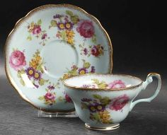 Foley 3062 Footed Cup & Saucer Set