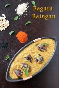 Jaya's recipes: Bagara Baingan/Hyderabadi Bagara Baingan Recipe