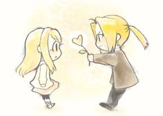 Day 8 Favourite anime couple - Ed and Witney - Fullmetal alchemist