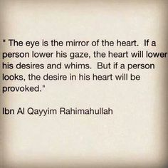 Lower your gaze