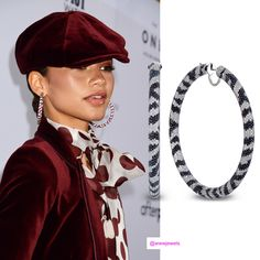 Zendaya and her zebra hoops from Jacob Co. at the Daily Front Row Fashion Media Awards Best Dressed Award, Gender Nonconforming, Daily Front Row, Zendaya, Kate Moss, Vanity Fair, The Row, Nice Dresses, Red Carpet