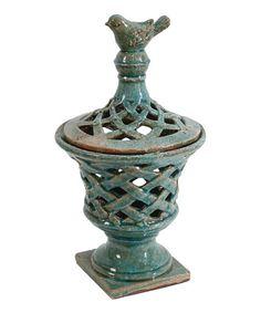 Turquoise Bird Jar | zulily
