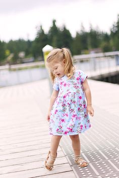 free girls dress pattern: size 3t. Eliana would look great in this this summer!