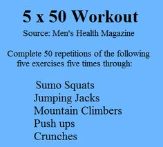 Best At Home Workouts: 5x50 Workout