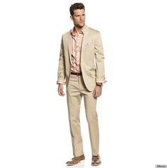 INC International Concepts Suiting, Allen Stretch Slim Fit Blazer & Pants Seperates - INC Blazers, Suits & Vests - Men - Macy's Tan Suit Jacket, Mens Suit Vest, Beige Suits, My Handsome Man, Suit Separates, Sports Jacket, Sport Coat, Khaki Pants, Slacks