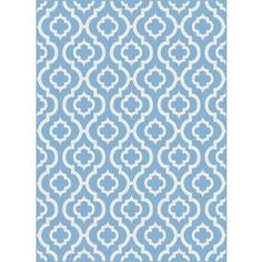 Tayse Metro Rectangular Blue Geometric Woven Area Rug (Common: 8-ft x 10-ft; Actual: 7.833-ft x 10.25-ft)