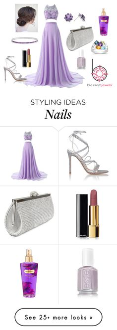 """""""<3"""" by velida-husic on Polyvore featuring Gianvito Rossi, Victoria's Secret, Chanel, women's clothing, women, female, woman, misses, juniors and Blossomjewels"""