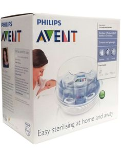 Philips AVENT Microwave Steam Steriliser's lightweight, compact design makes it ideal for use in and out of home. Contents remain sterile for up to 24 hours if lid is unopened.