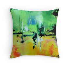 Throw Pillow Cover  Green Throw Pillow Cover Modern Design Pillow Cover, Modern home decor pillow cover ,Sofa, Bed ,Chair, Couch, Home Decor