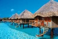 Visit Bora Bora and stay in one of these huts!