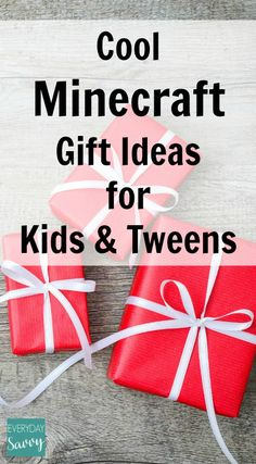 Cool Minecraft Gift Ideas for Kids & Tweens, plus more than 25 gift idea lists for kids, tweens, teens and adults.